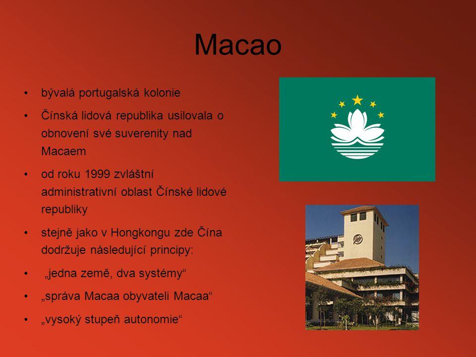 Macao bývalá portugalská kolonie
