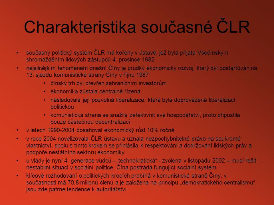Charakteristika současné ČLR