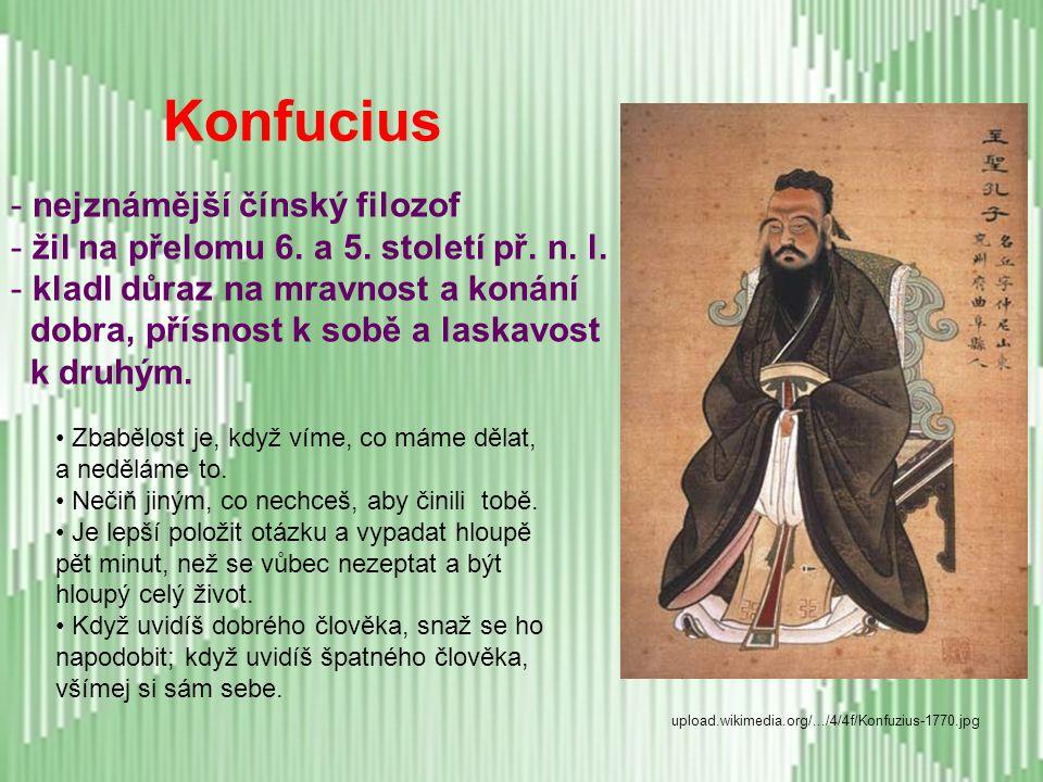 Konfucius nejznámější čínský filozof