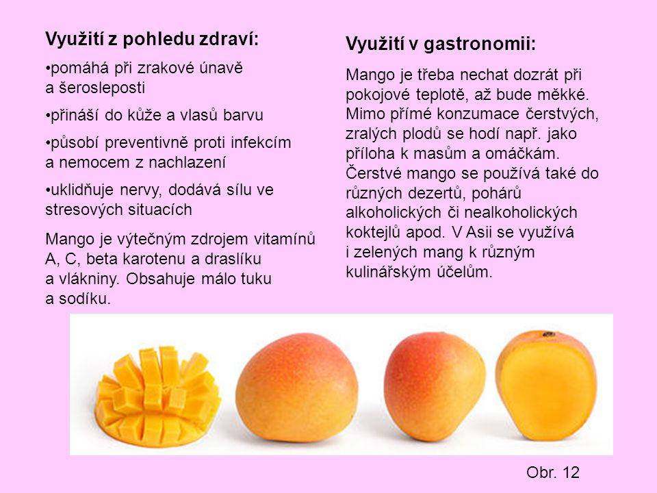Využití z pohledu zdraví: Využití v gastronomii:
