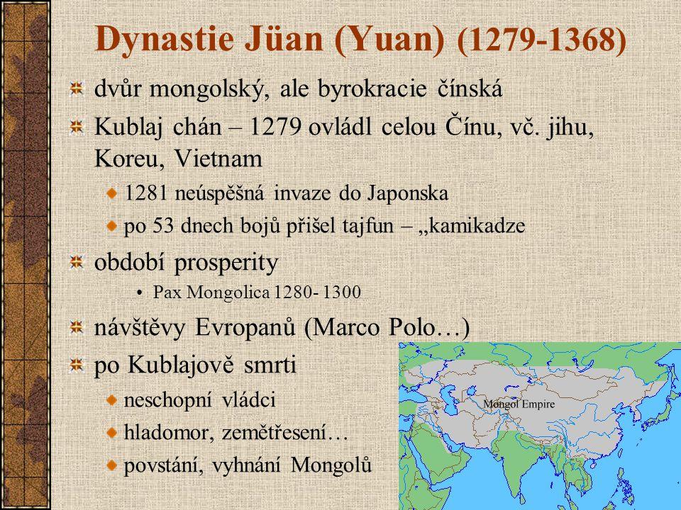 Dynastie Jüan (Yuan) (1279-1368)