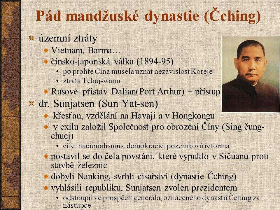Pád mandžuské dynastie (Čching)