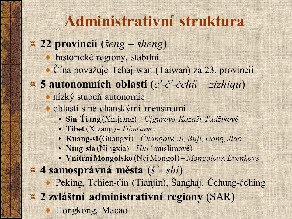 Administrativní struktura