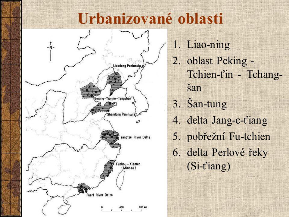 Urbanizované oblasti Liao-ning oblast Peking - Tchien-ťin - Tchang-šan