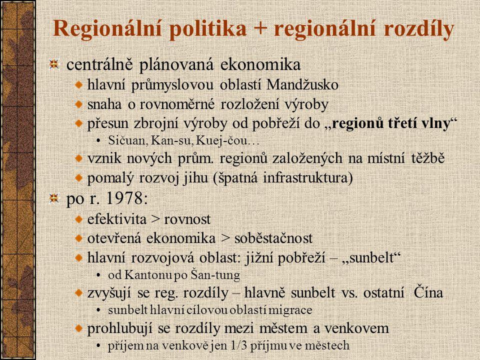 Regionální politika + regionální rozdíly