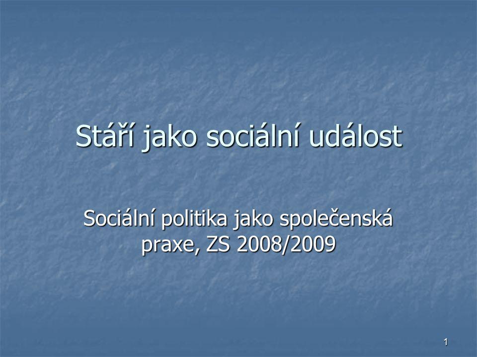 Stáří jako sociální událost