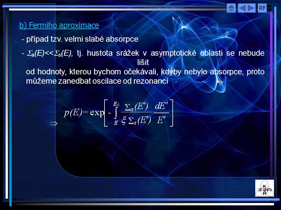 b) Fermiho aproximace případ tzv. velmi slabé absorpce.
