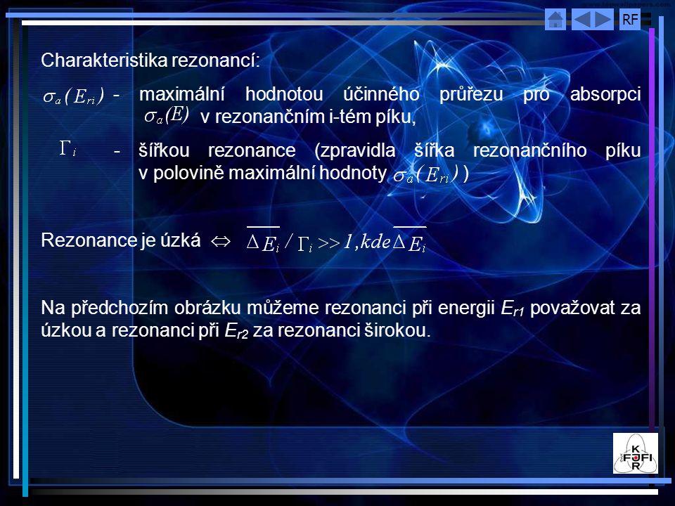 Charakteristika rezonancí: