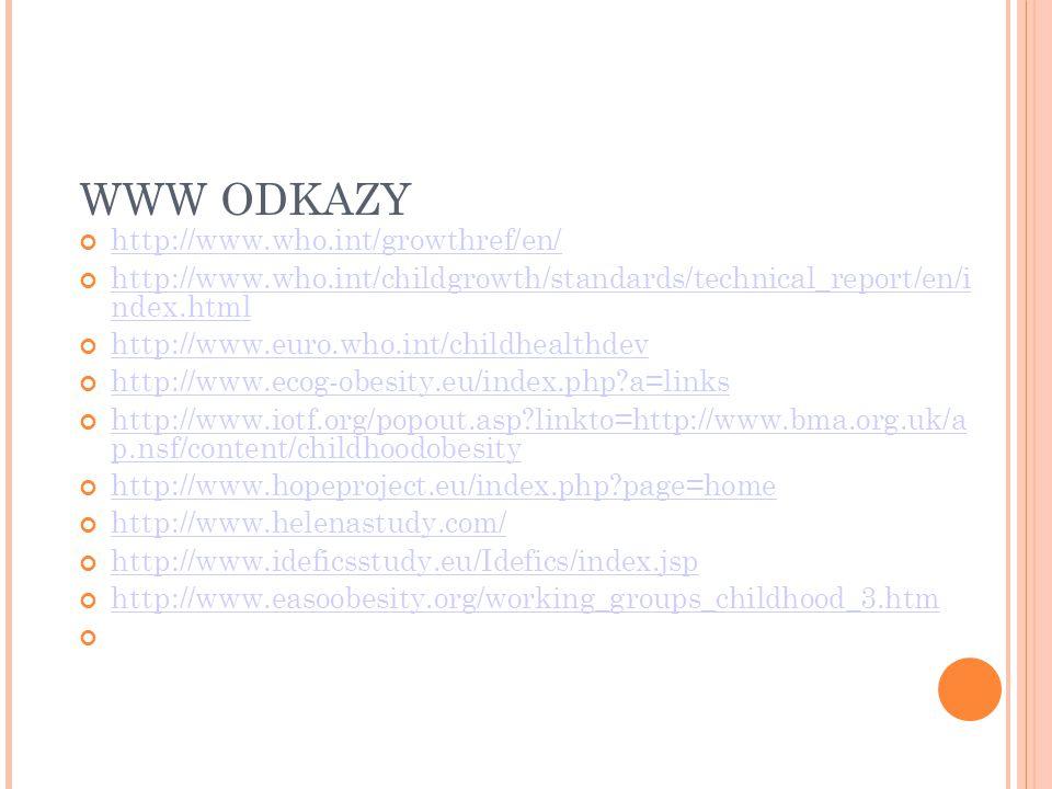 WWW ODKAZY http://www.who.int/growthref/en/