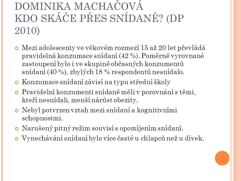 DOMINIKA MACHAČOVÁ KDO SKÁČE PŘES SNÍDANĚ (DP 2010)