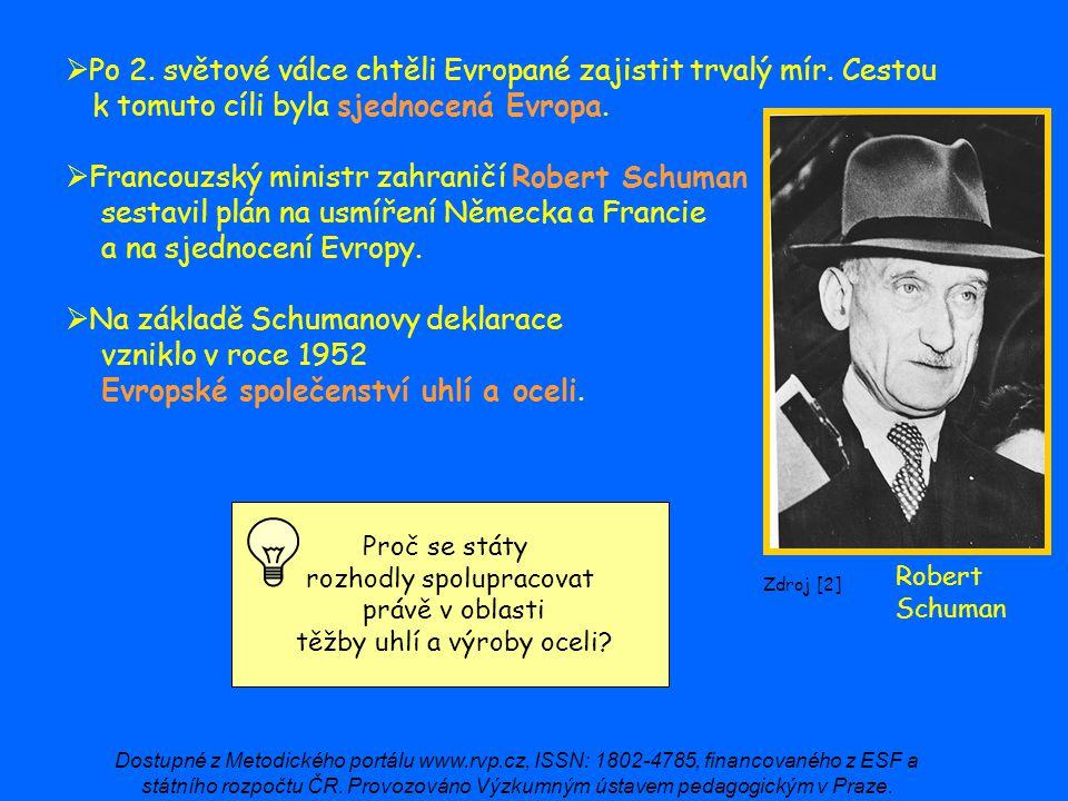 Francouzský ministr zahraničí Robert Schuman