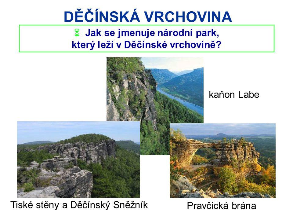  Jak se jmenuje národní park, který leží v Děčínské vrchovině