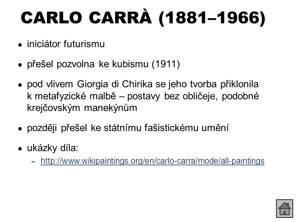 CARLO CARRÀ (1881–1966) iniciátor futurismu