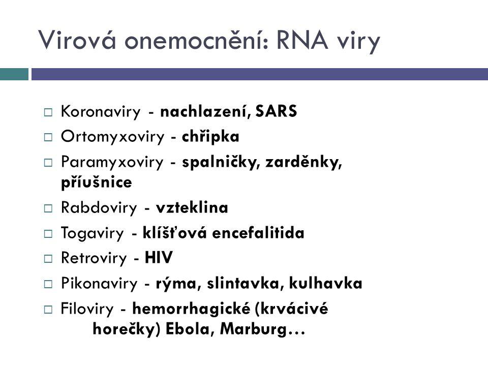 Virová onemocnění: RNA viry