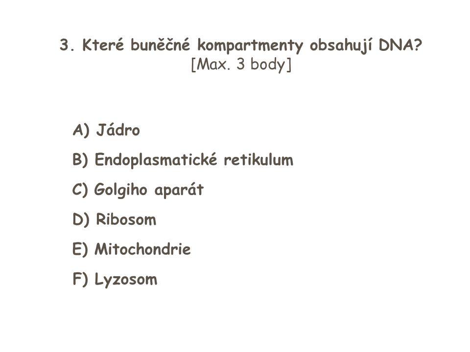 3. Které buněčné kompartmenty obsahují DNA