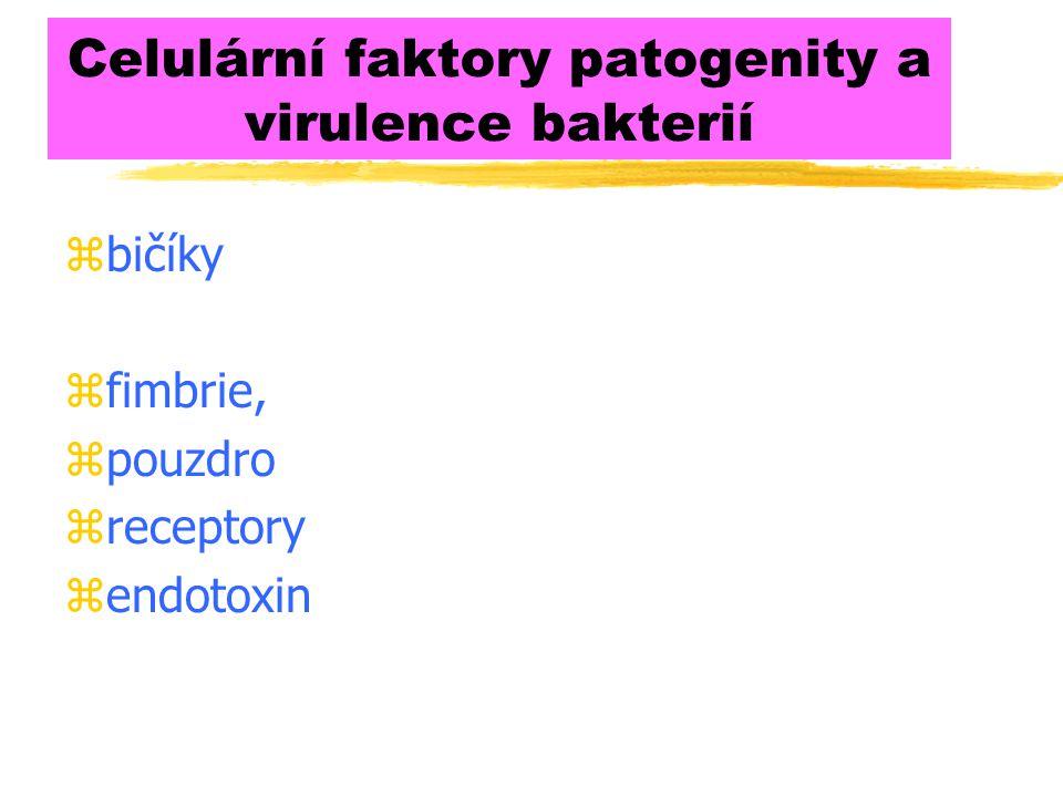 Celulární faktory patogenity a virulence bakterií