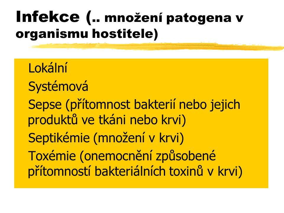 Infekce (.. množení patogena v organismu hostitele)