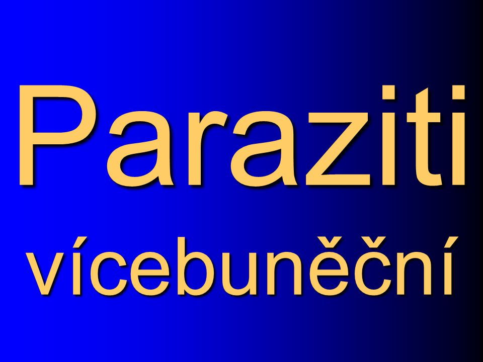 Paraziti vícebuněční
