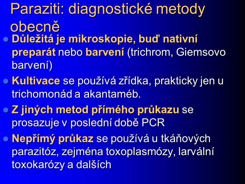 Paraziti: diagnostické metody obecně