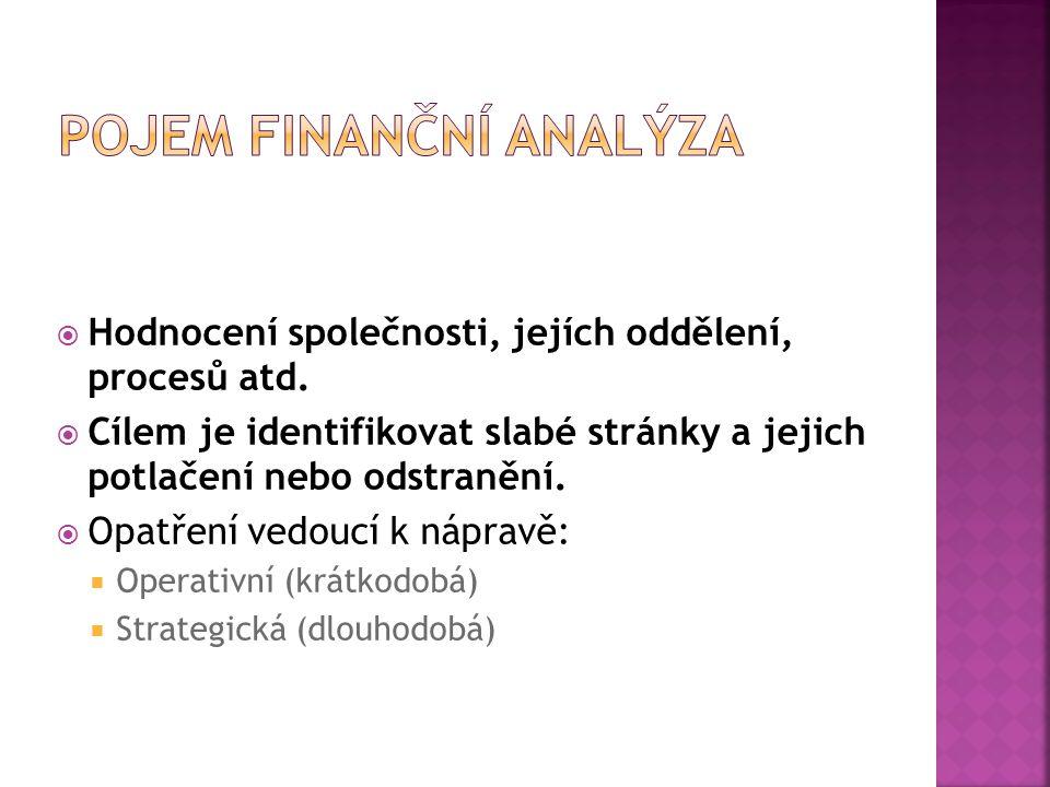 Pojem finanční analýza