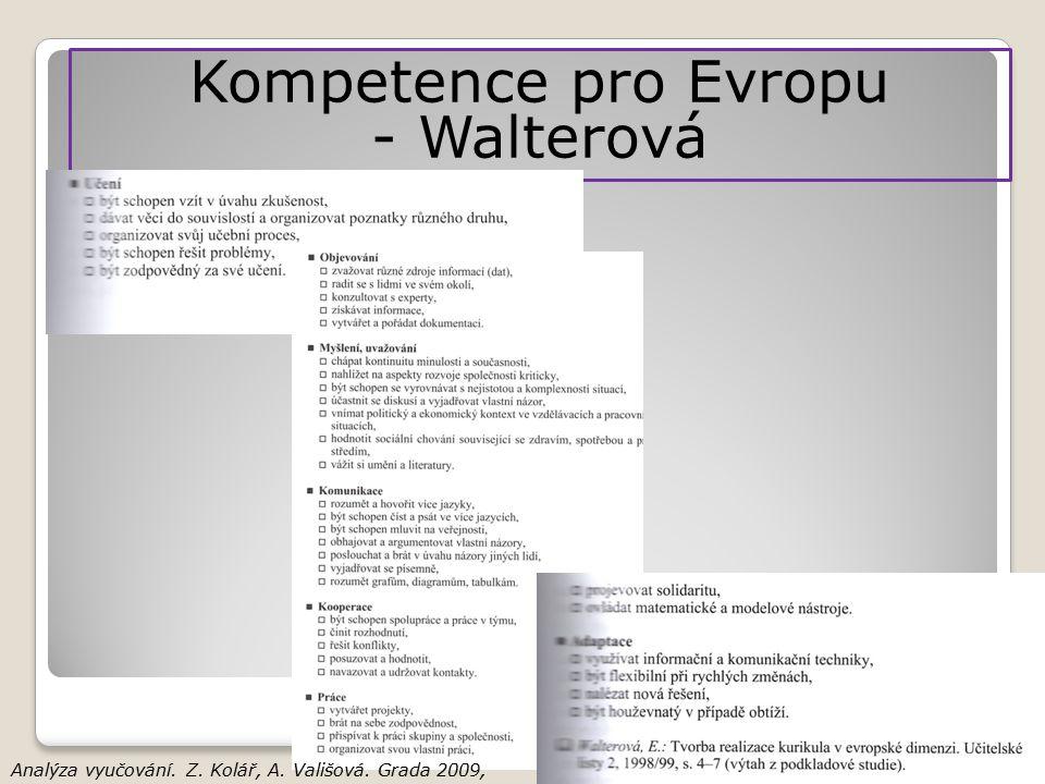 Kompetence pro Evropu - Walterová