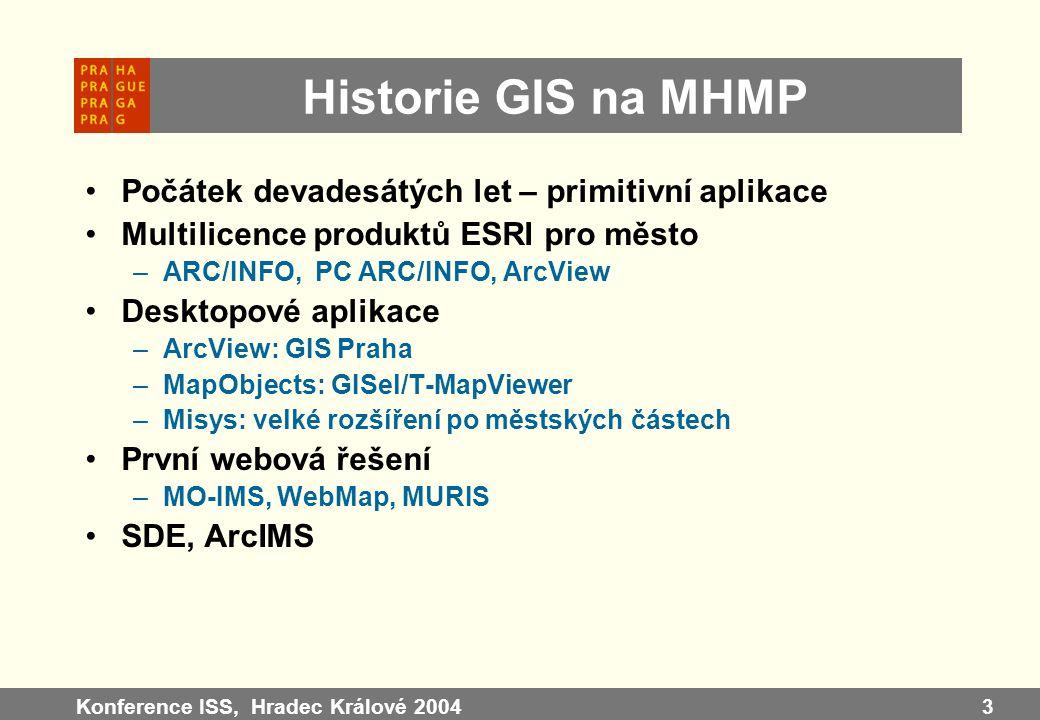 Historie GIS na MHMP Počátek devadesátých let – primitivní aplikace