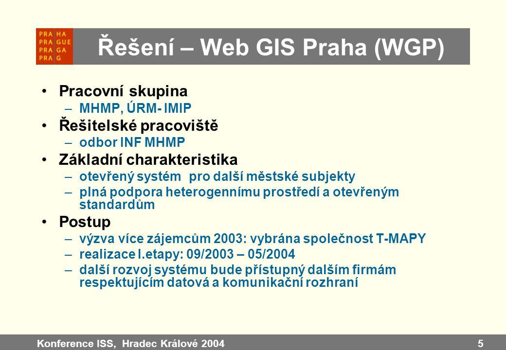 Řešení – Web GIS Praha (WGP)
