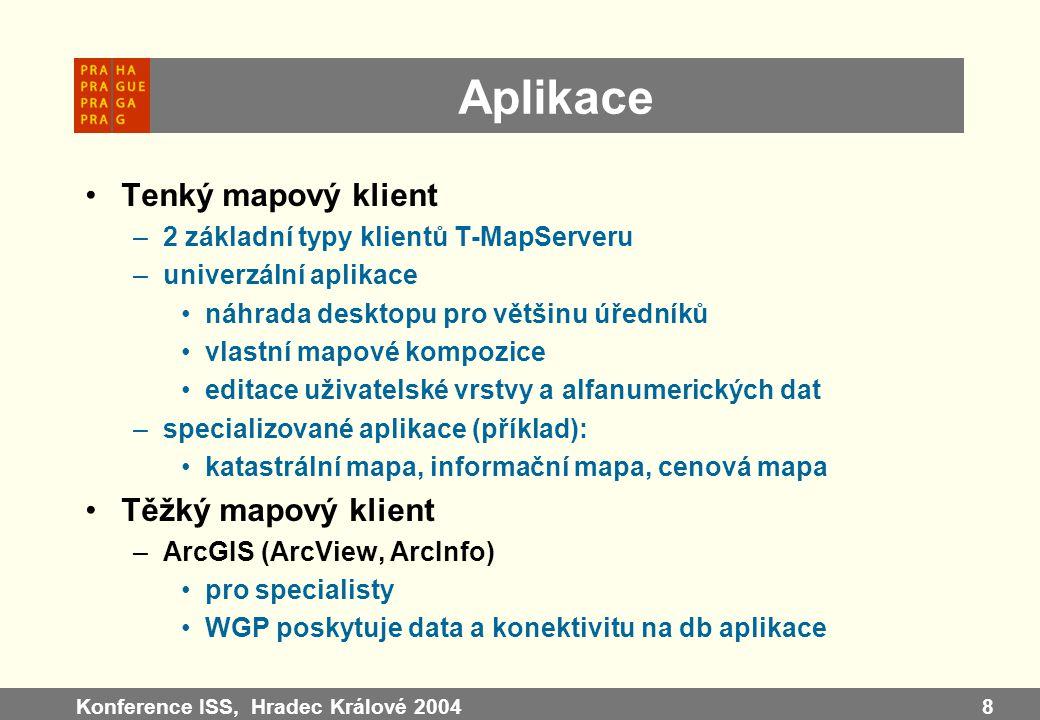 Aplikace Tenký mapový klient Těžký mapový klient