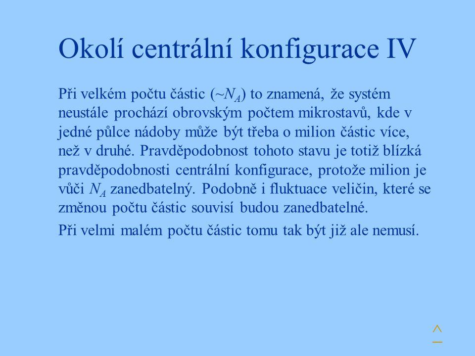 Okolí centrální konfigurace IV
