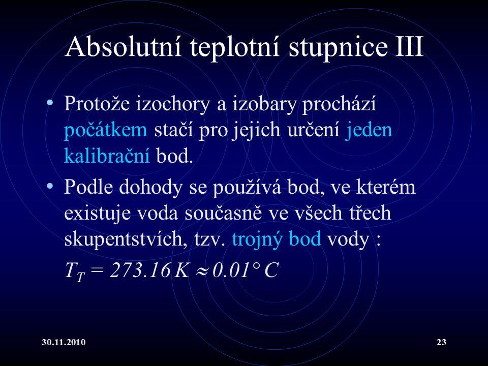 Absolutní teplotní stupnice III