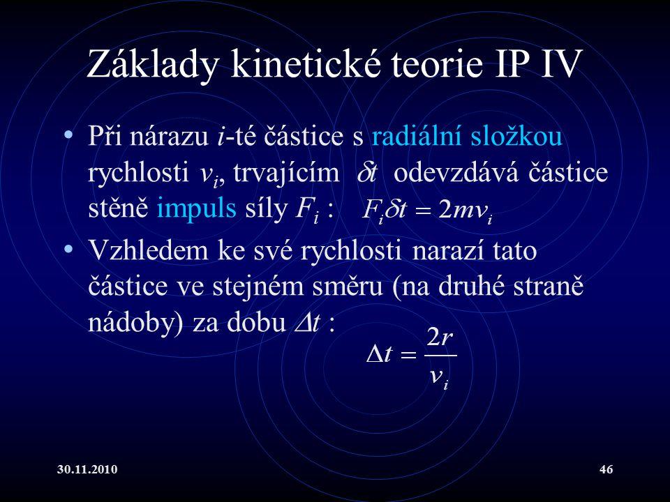 Základy kinetické teorie IP IV
