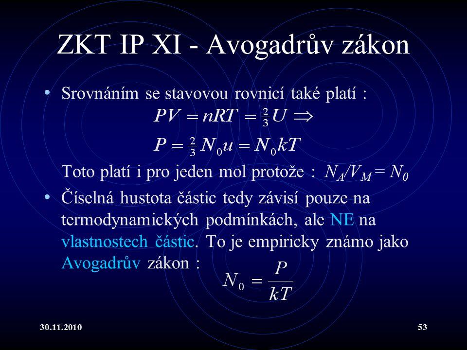 ZKT IP XI - Avogadrův zákon