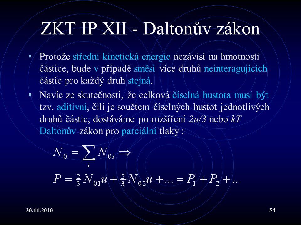 ZKT IP XII - Daltonův zákon