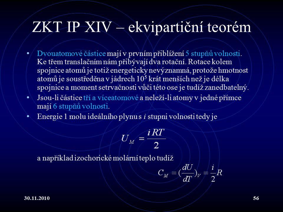 ZKT IP XIV – ekvipartiční teorém