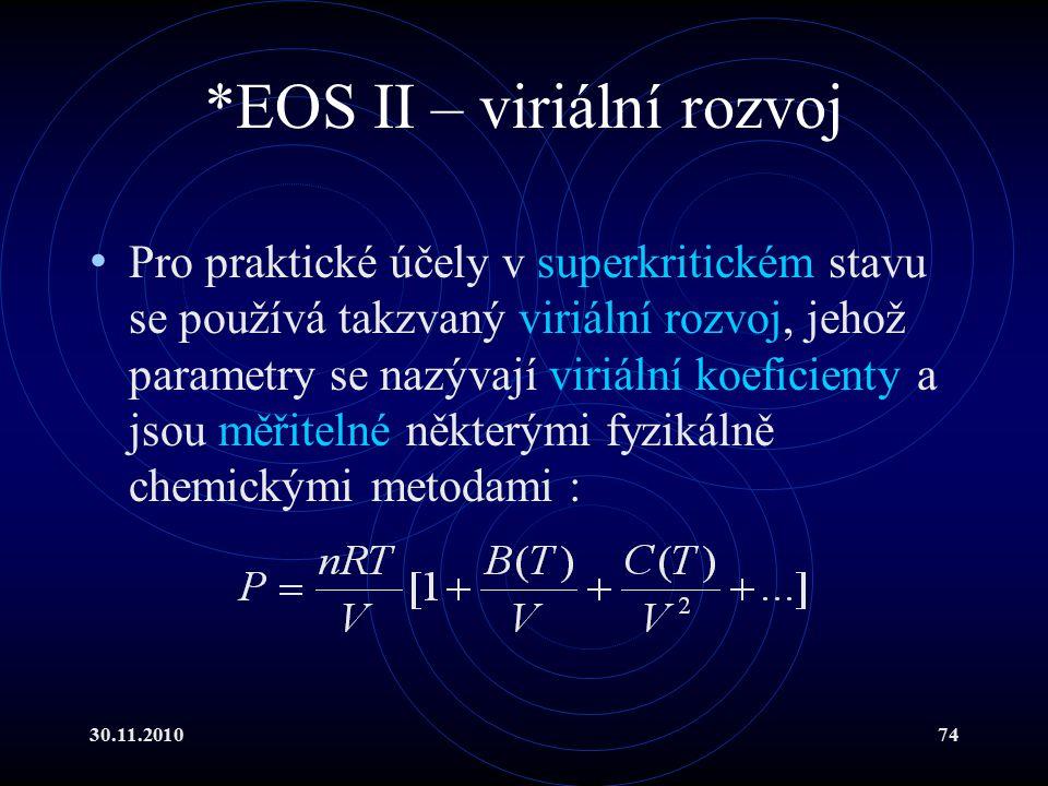*EOS II – viriální rozvoj