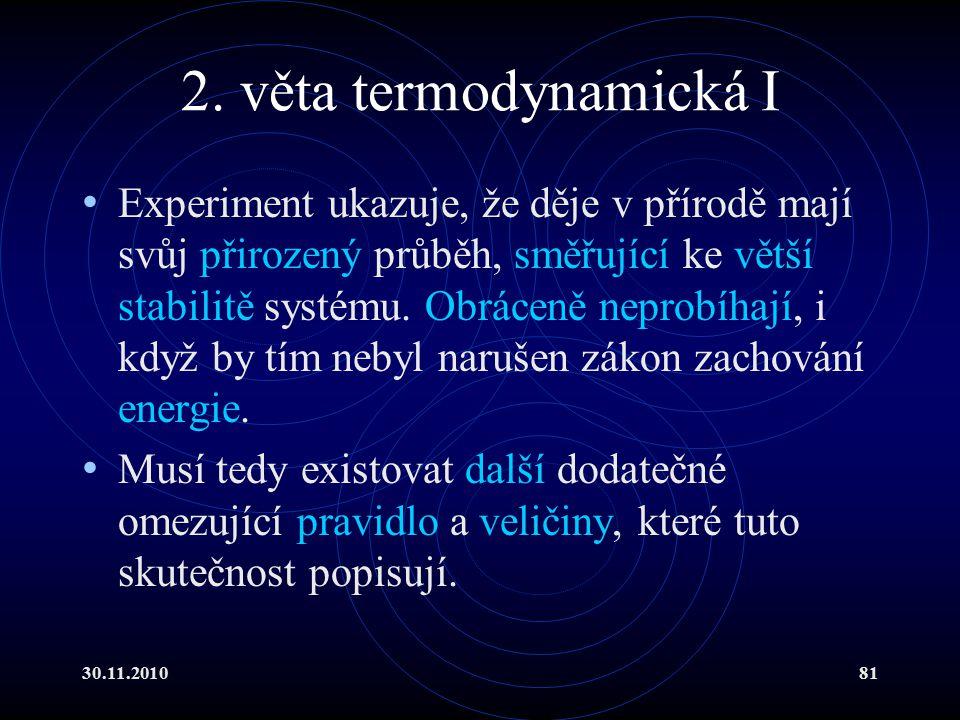 2. věta termodynamická I