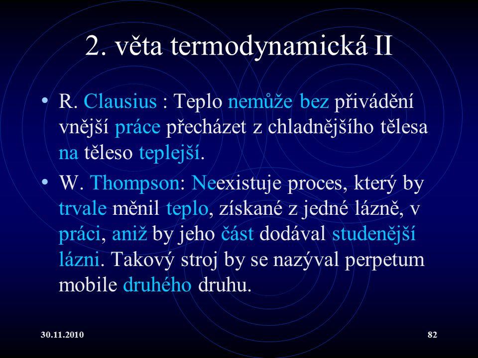 2. věta termodynamická II