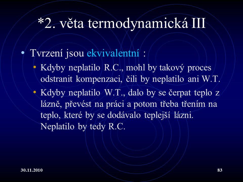 *2. věta termodynamická III