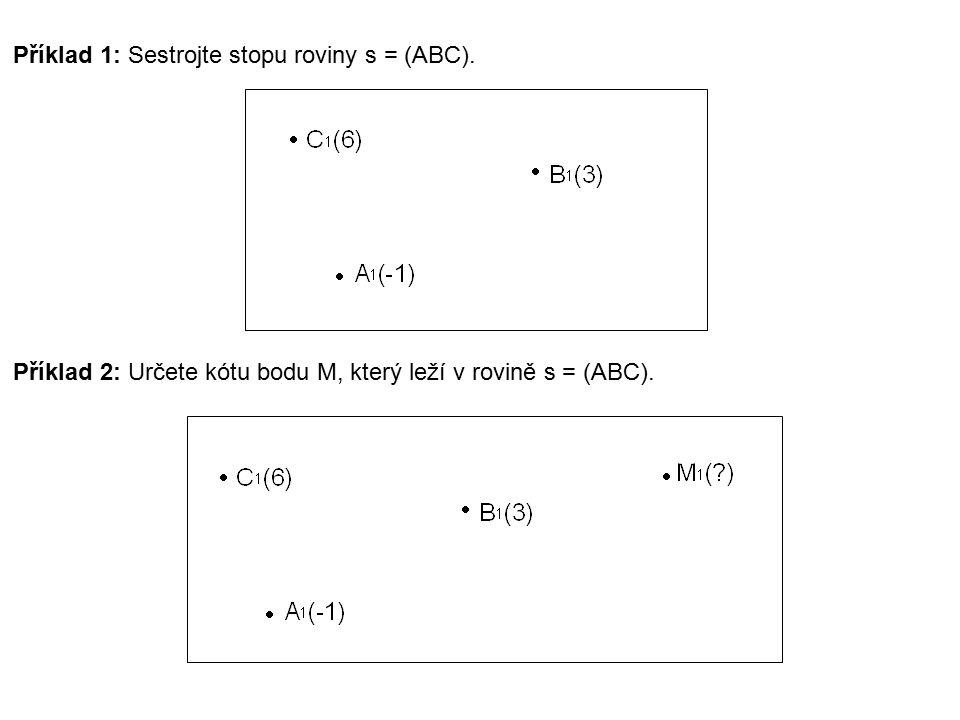 Příklad 1: Sestrojte stopu roviny s = (ABC).