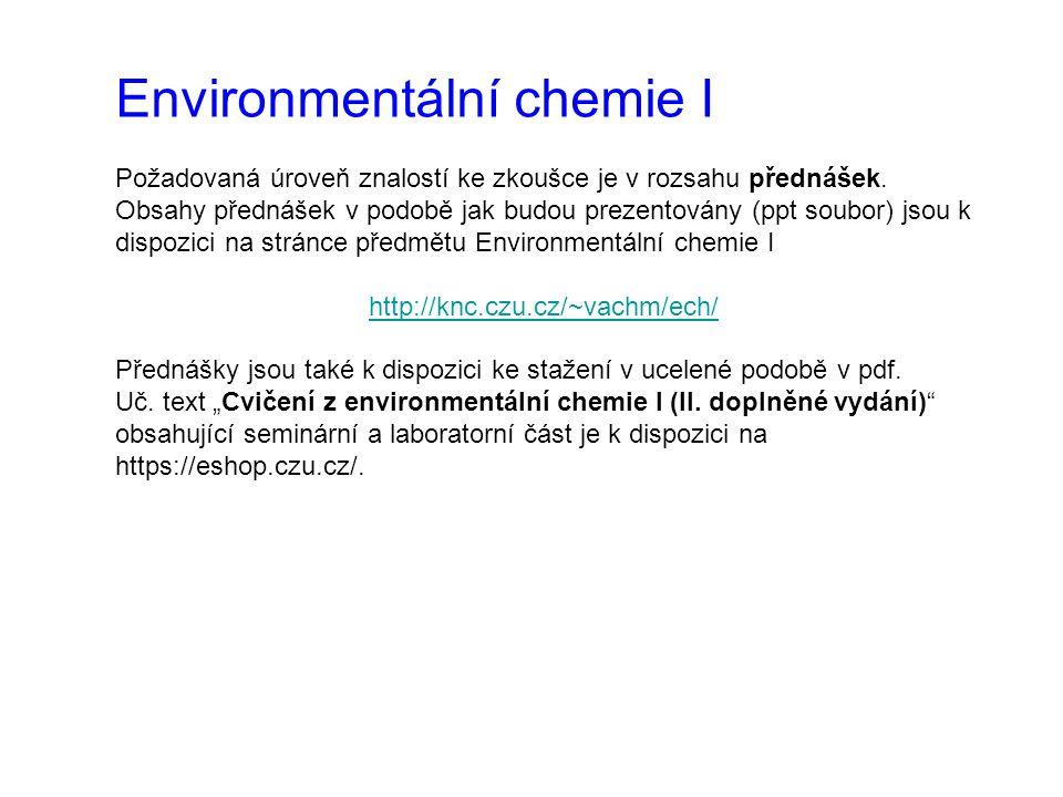 Environmentální chemie I
