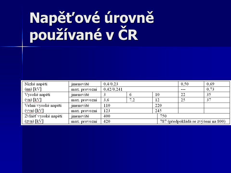 Napěťové úrovně používané v ČR