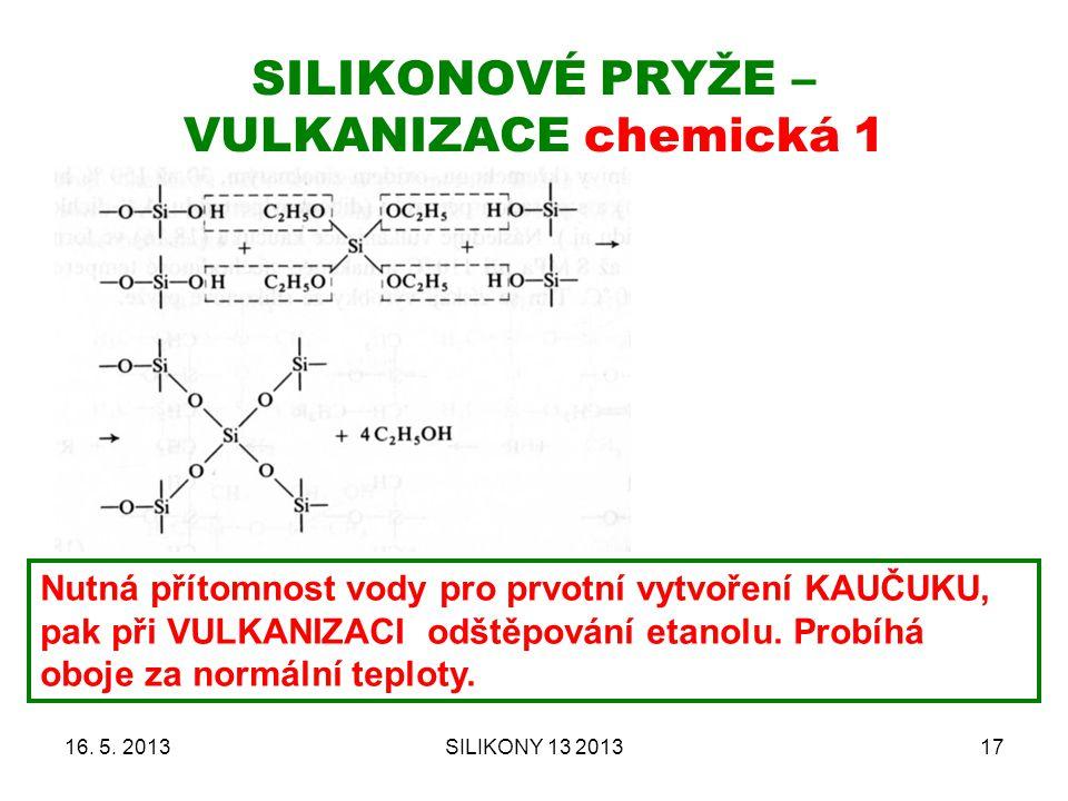 SILIKONOVÉ PRYŽE – VULKANIZACE chemická 1