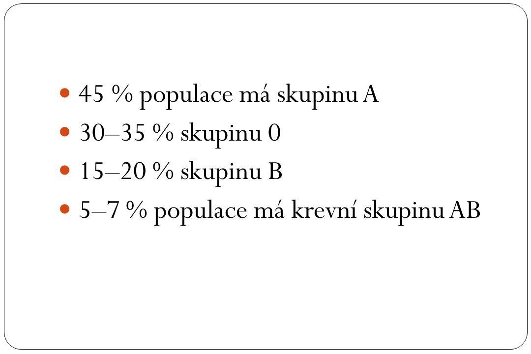 5–7 % populace má krevní skupinu AB