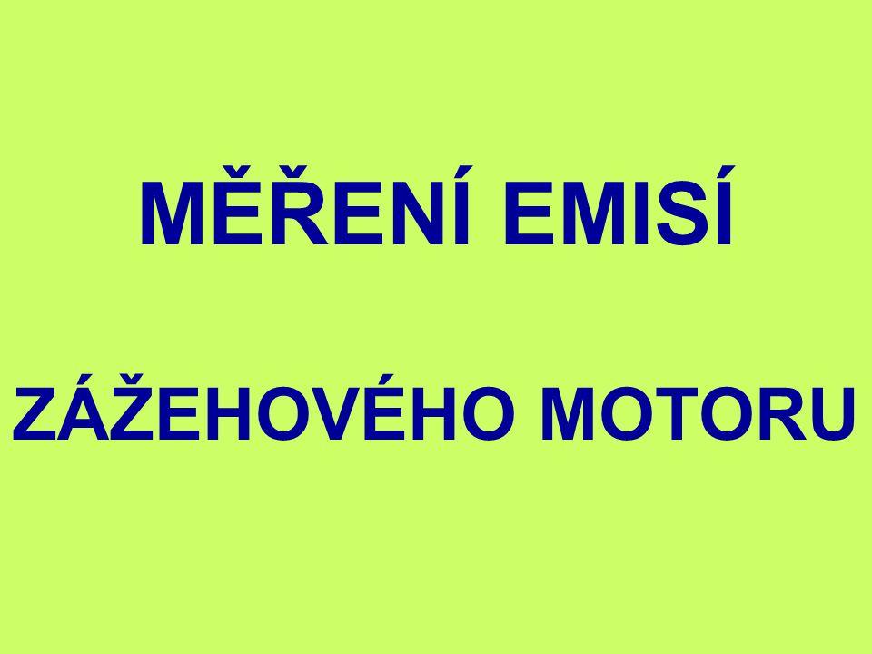 MĚŘENÍ EMISÍ ZÁŽEHOVÉHO MOTORU