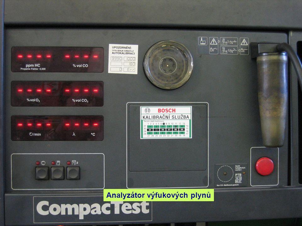 Analyzátor výfukových plynů