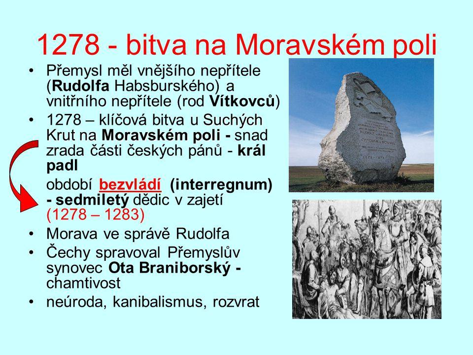 1278 - bitva na Moravském poli