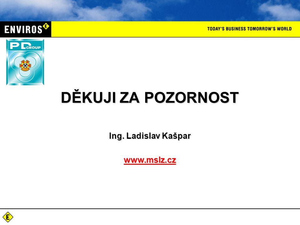 DĚKUJI ZA POZORNOST Ing. Ladislav Kašpar www.mslz.cz