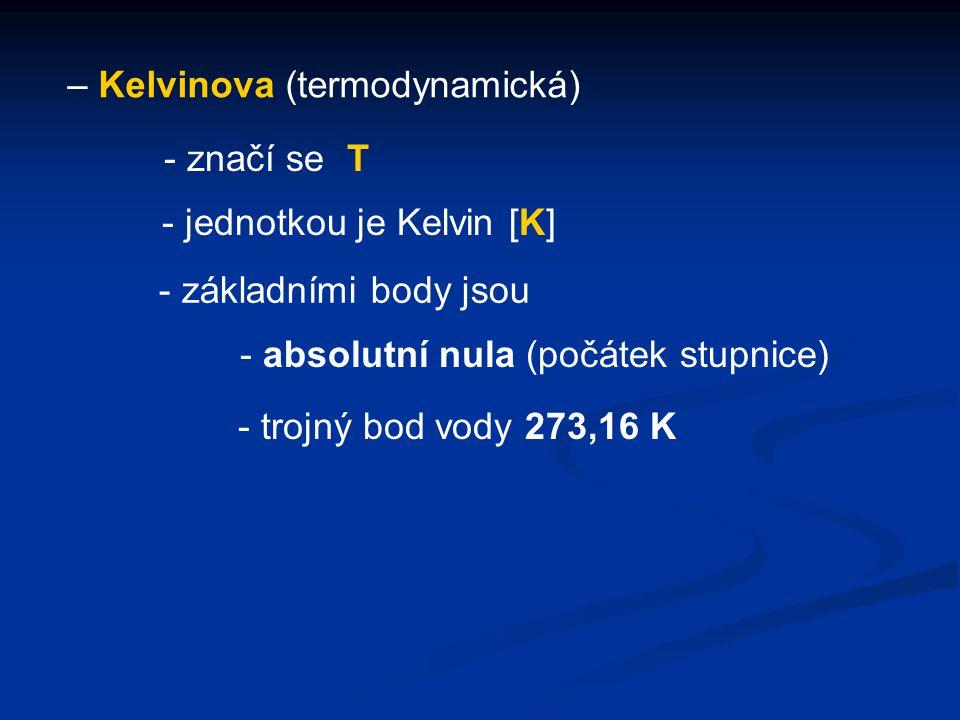 – Kelvinova (termodynamická)