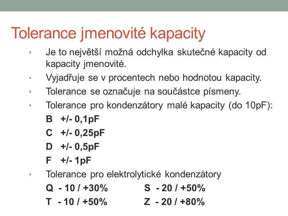 Tolerance jmenovité kapacity