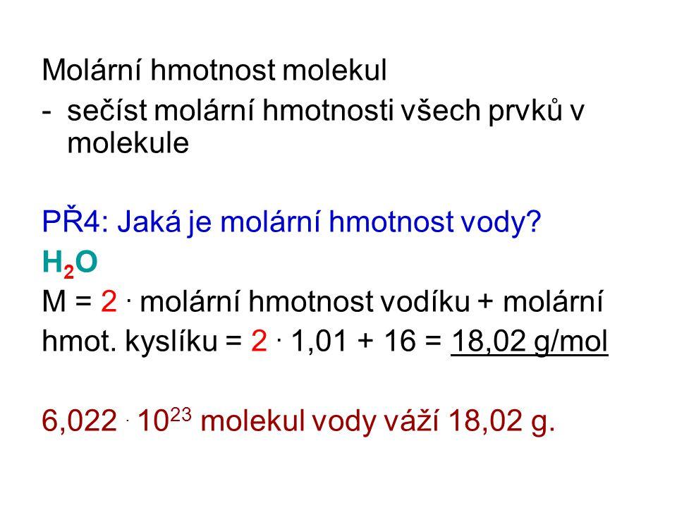 Molární hmotnost molekul